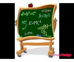 تدریس خصوصی دروس دانشگاهی، پیش دانشگاهی و دبیرستان (ریاضی فیزیک، تجربی)